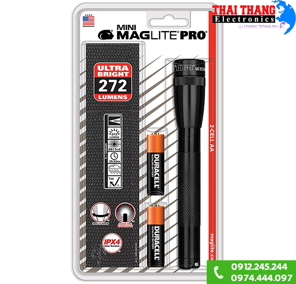 Đèn pin Maglite SP2P01HY 2AA USA