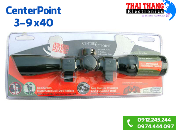 ống ngắm CenterPoint 3-9x40