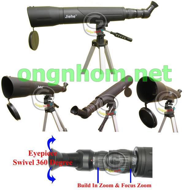 ỐNG NHÒM XA TELE SPOTTING SCOPE JIEHE 25-75X60