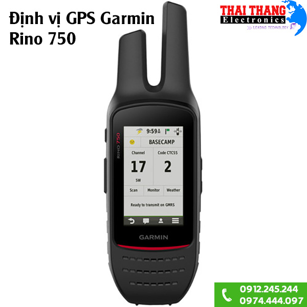 Định vị GPS kiêm bộ đàm cầm tay Garmin Rino 750