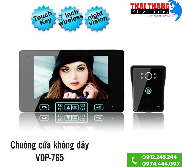 Chuông cửa kèm màn hình không dây VDP-765