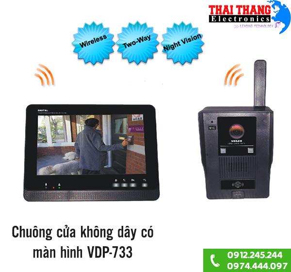 Chuông cửa kèm màn hình không dây VDP-733