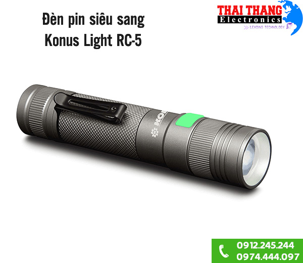 Đèn pin quân đội italia Konus Light RC-5 800lumen