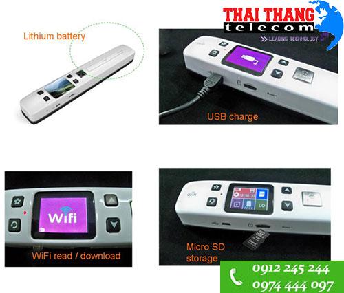 Máy Scan mini wifi ISCAN cầm tay có màn hình hiển thị